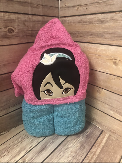 Mulan Child Size Hooded Towel - Ready to Ship