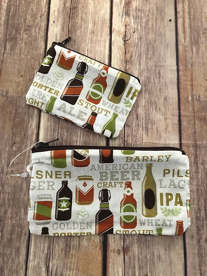 Beer Bottles Zipper Pouch - Ready to Ship