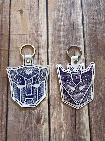 Transformers Embroidered Key Chain