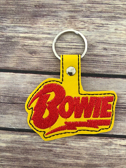 Bowie Embroidered Key Chain