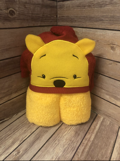 Pooh 3D Child Size Hooded Towel - Ready to Ship