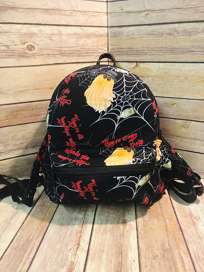 Addam's Family themed Mini Backpack Purse