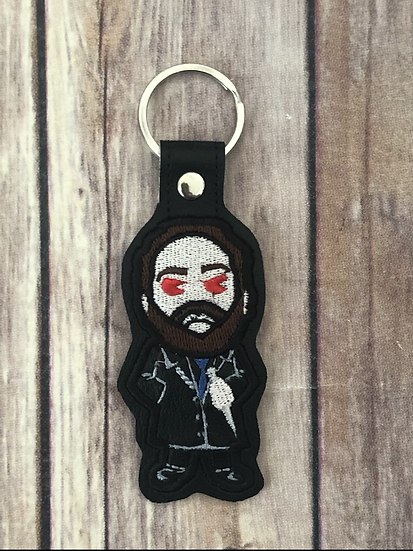 Supernatural Crowley Chibi Embroidered Key Chain