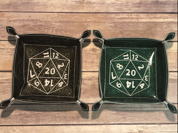 D20 Square Portable Dice Tray - Ready To Ship