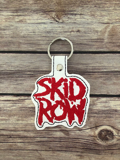 Skid Row Embroidered Key Chain