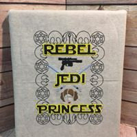 Rebel Jedi Princess Wall Art - Made To Order