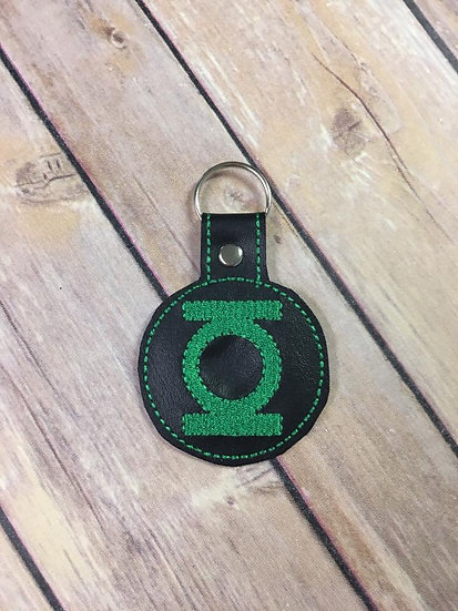 Green Lantern Embroidered Key Chain