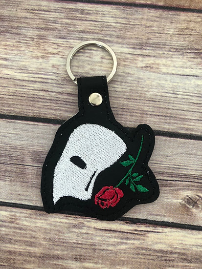 Phantom of the Opera Mask Embroidered Key Chain