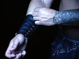 Leather Wrists Chris by Pebbles Lacasse