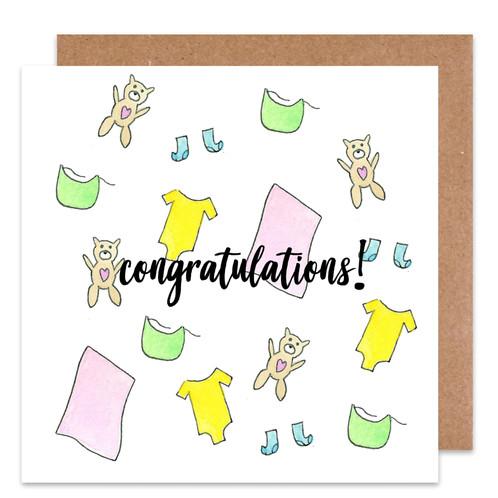 baby congratulations card - Baby Congrats Card