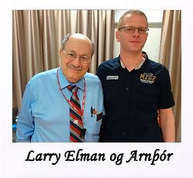 Arnþór og Larry Elman