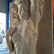traverten heykel