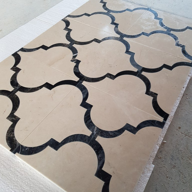 waterjet marble tiles