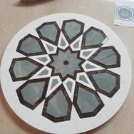 waterjet marble medallion