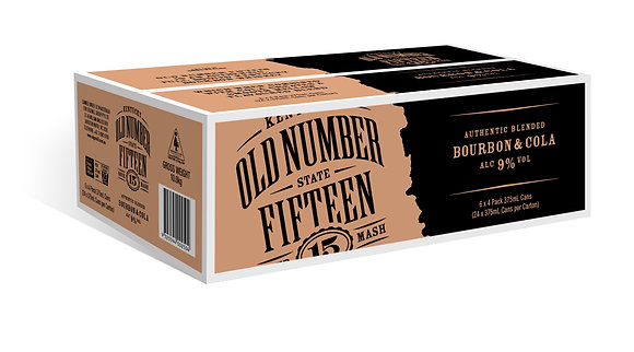 Old Number 15 Bourbon & Cola 9%  24x375ml