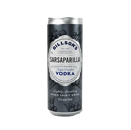 Billsons Vodka & Sarsaparilla 355ml x 4