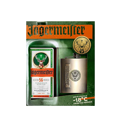 Jagermeister Hip Flask Gift Pack 700ml