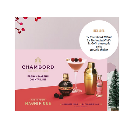Chambord French Martini Cocktail Kit