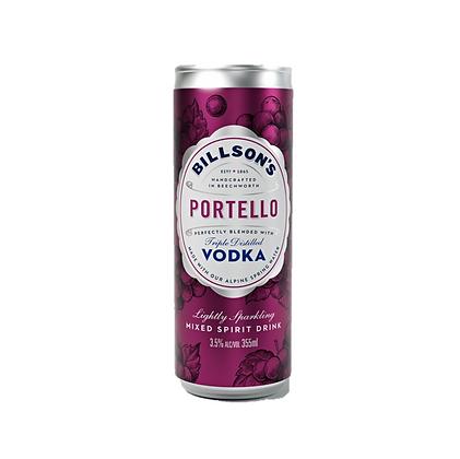 Billsons Vodka & Portello Can 355ml x 4