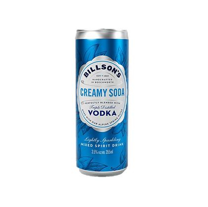 Billsons Vodka & Creamy Soda 355ml x 4