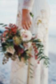 wedding modern elopement bouquet
