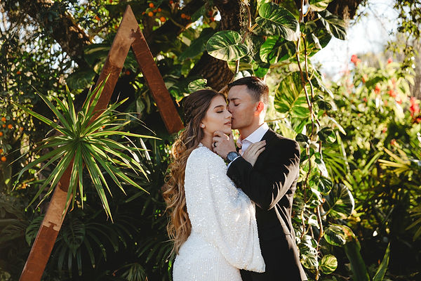 tropical boho elopement