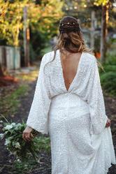 low back modern bride