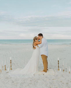 candlelight beach ceremony