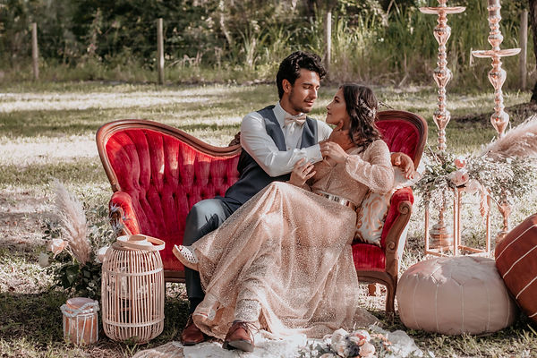 dreamy boho elopement