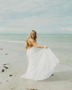 bride at the shore