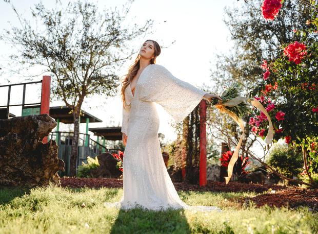 bright pink bride elopement