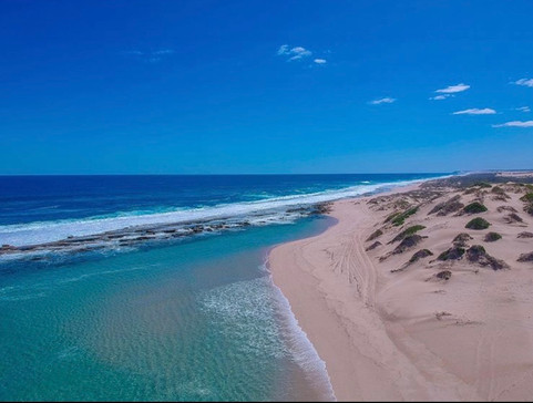 Aerial Shot of  Lucky Bay