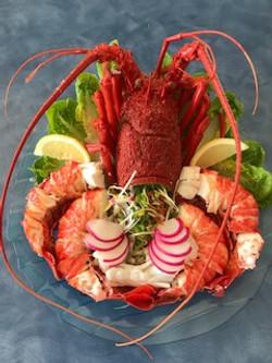Rock lobster platter