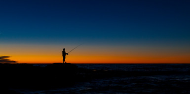 Sunset and Fishing