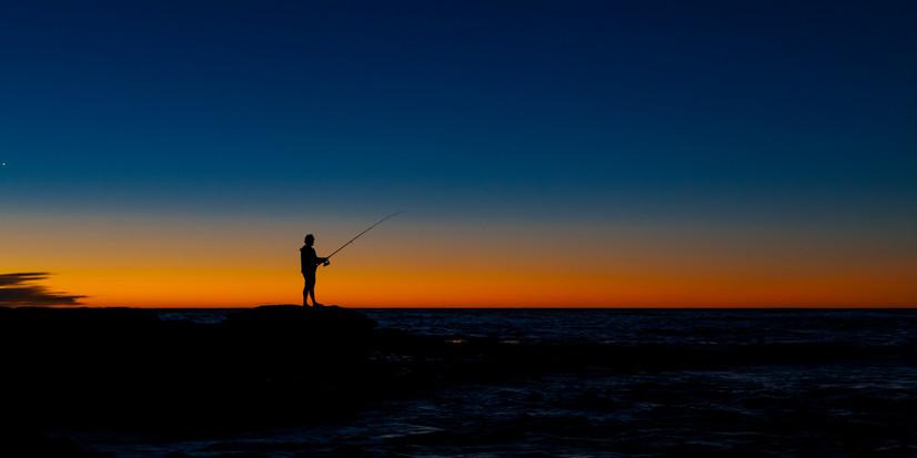 Sunset and Fishing