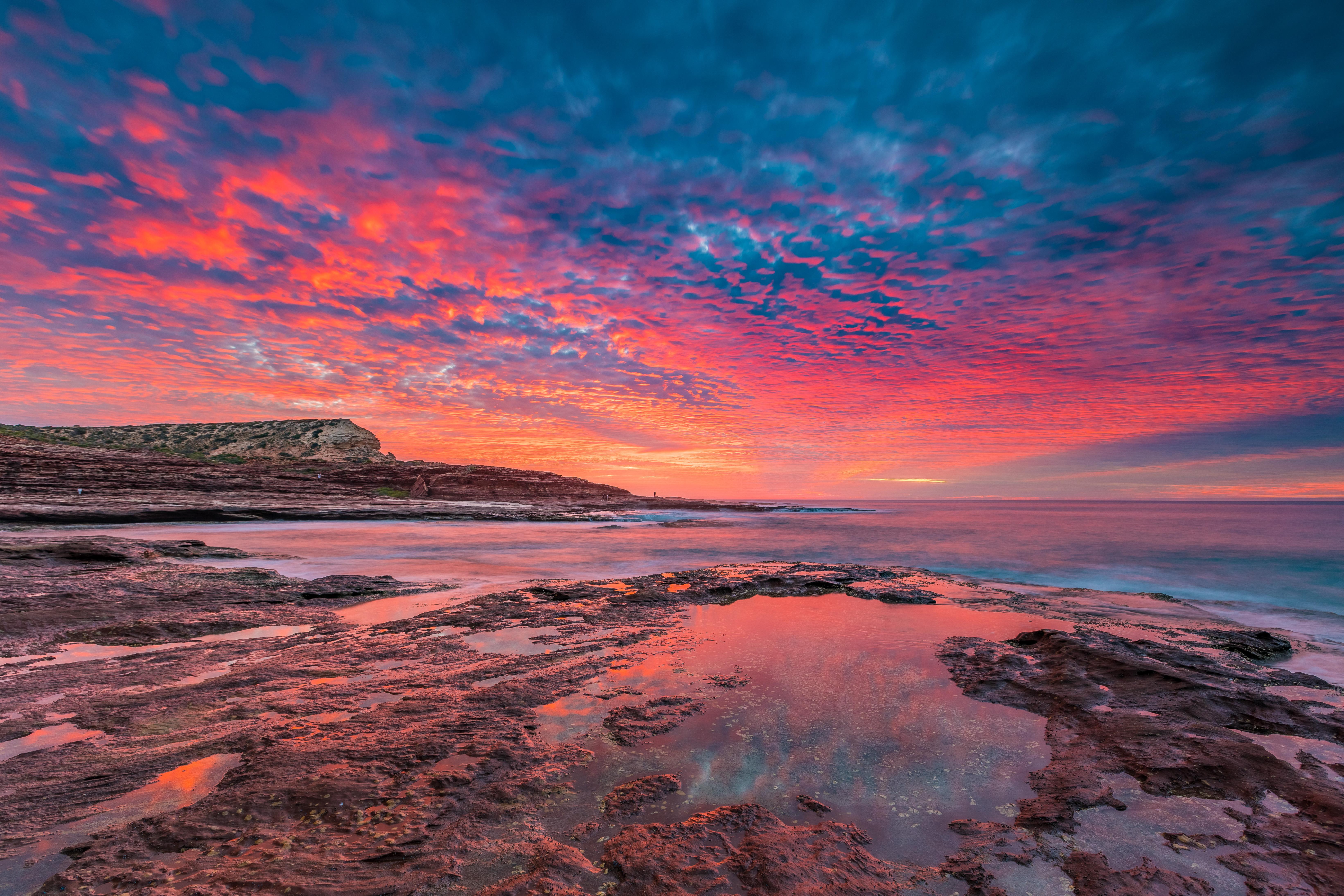 Red Bluff Sun Set