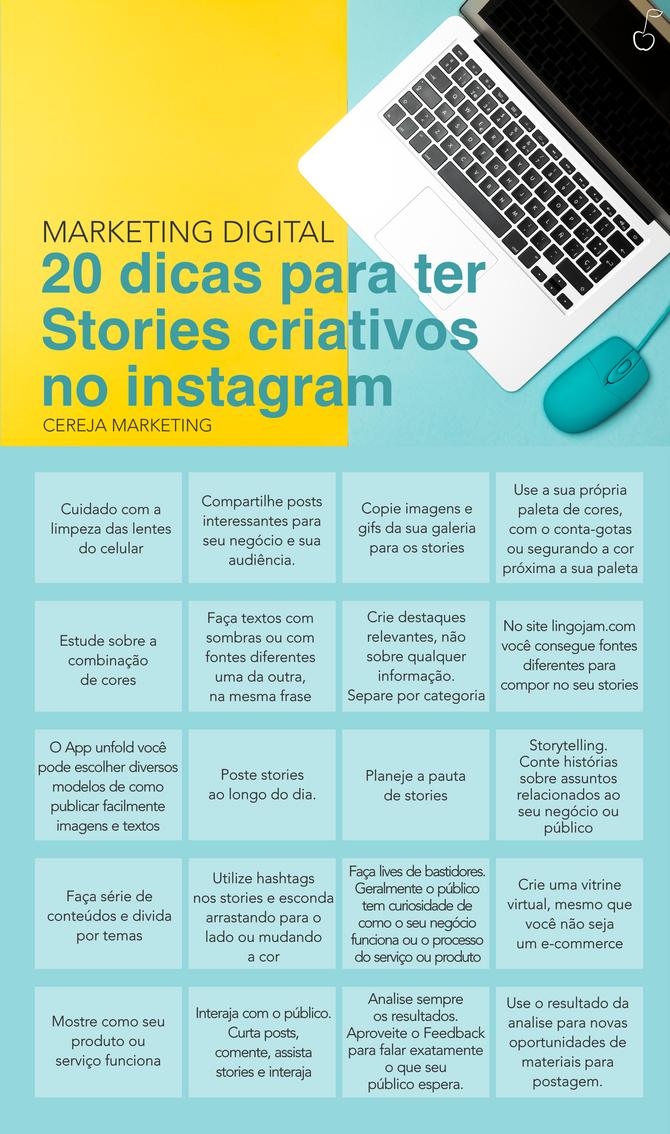 20 dicas para ter Stories criativos no instagram