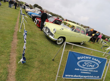 Classic Ford Show at Trevornick Holiday Park, Holywell Bay, Newquay, 19th May 2019