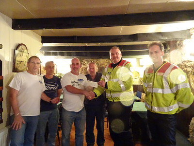 Cornwall Blood Bikes Cheque Presentation