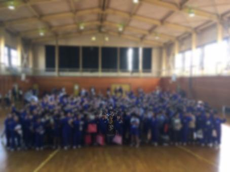 小学生500人とヨガをしました!