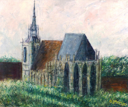The Church of Conches-en-Ouche (Normandy, France)