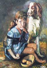 The Young Girl and the Dog