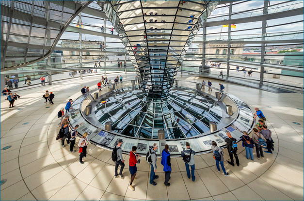 Inside the Reichstag Dome by Christine Chittock