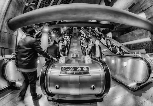 Escalator by Ian Bateman