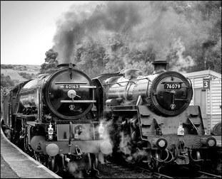 Trains at Grosmont
