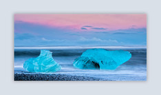 Ice at Dusk by Derrick Holliday