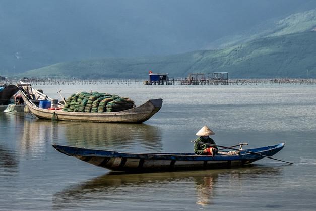 Shrimp farming Vietnam by Stella French