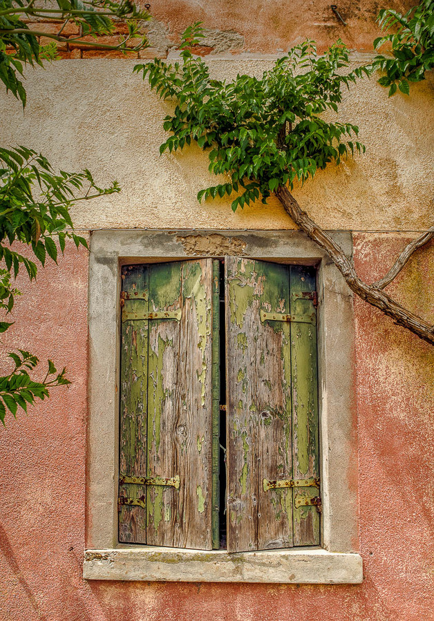 Old Shutters by Christine Chittock