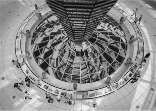 Looking down in the Reichstag