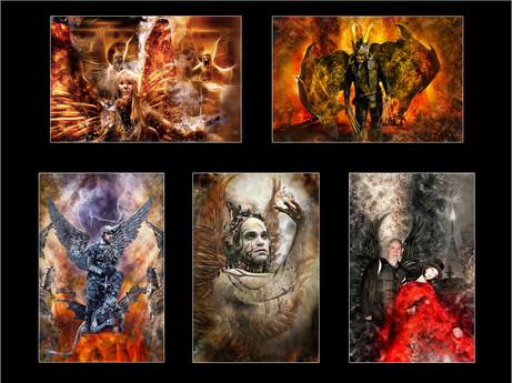 H/C Colour Print - Fallen Angels by Ian Bateman